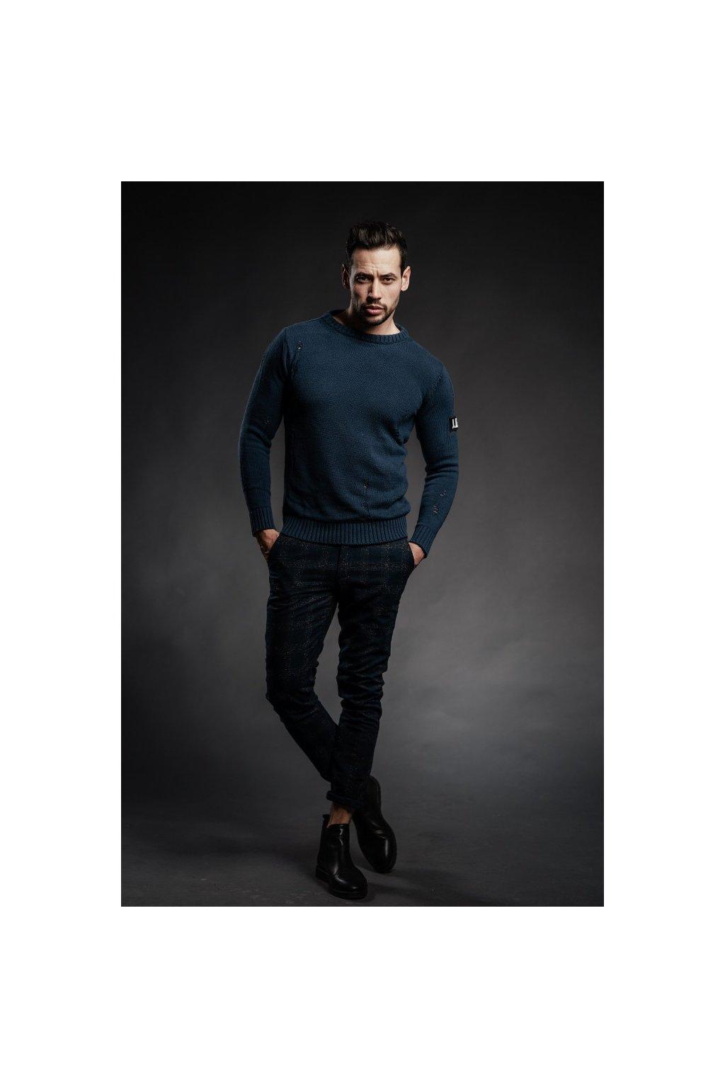 Kalhoty kárové GIANNI LUPO - tmavě modré (Velikost Velikost 52)