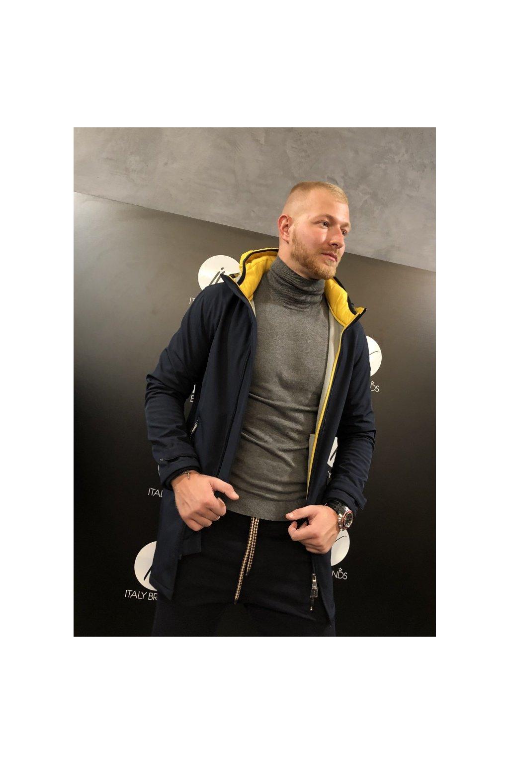 Kabát s kapucí MARKUP - modrý (Velikost Velikost XXL)
