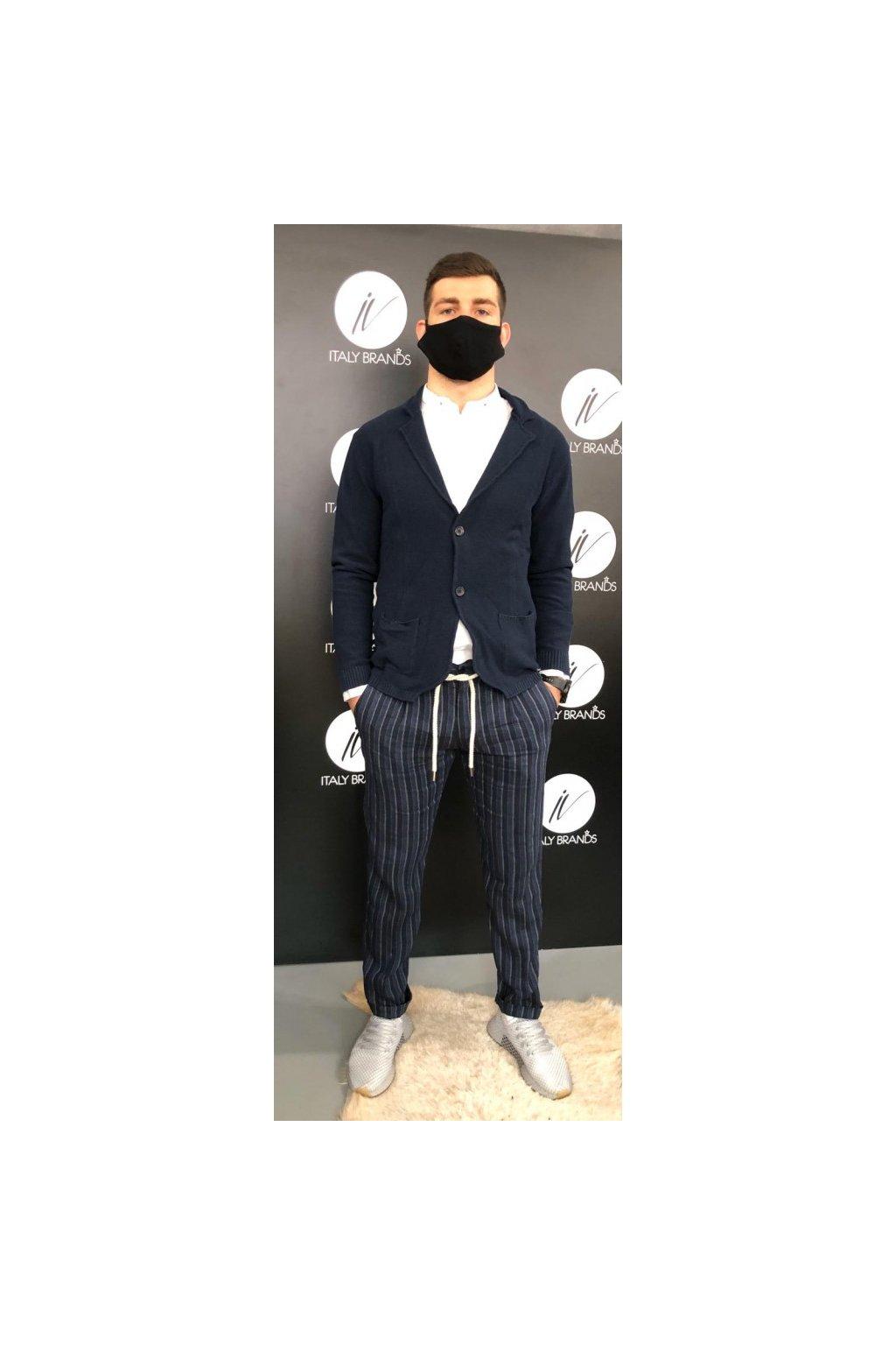 Kalhoty s proužkem, MARKUP - tmavě modré (Velikost Velikost 52)