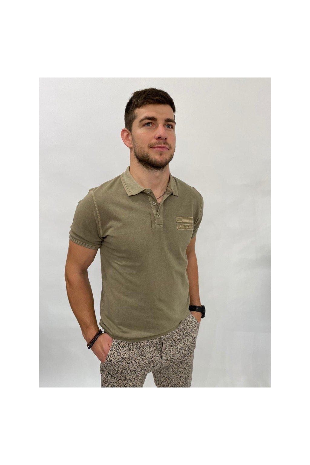 Tričko polo, MARKUP - khaki (Velikost Velikost XXL)
