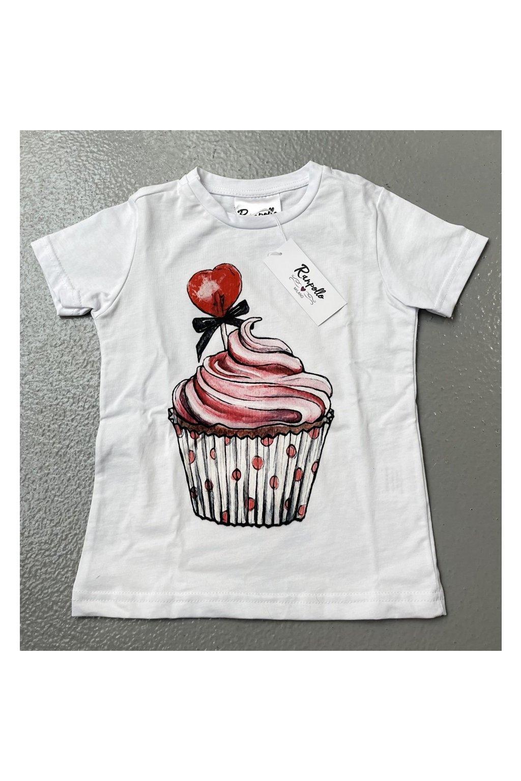 Tričko baby cupcake, RANPOLLO - bílé (Velikost Velikost 10)