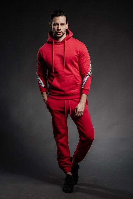 Mikina Balements s lemem - červená (Velikost Velikost M)