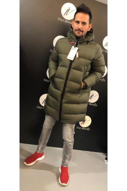 Péřový kabát s kapucí FREEDOMDAY - khaki (Velikost Velikost XL)
