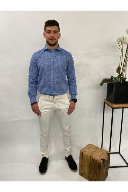 Košile s jemným potiskem, MARKUP - modrá (Velikost Velikost XXL)