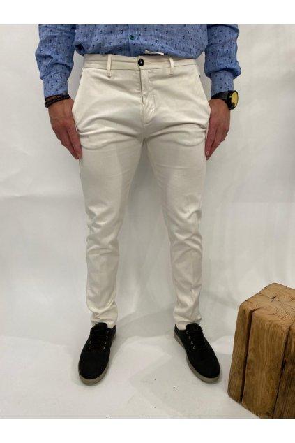 Kalhoty plátěné, MARKUP - smetanové (Velikost Velikost 52)