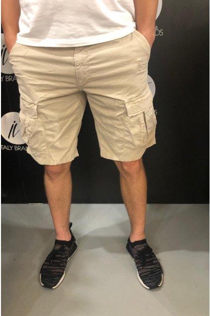 Kraťasy s kapsami, IMPERIAL - béžové (Velikost Velikost 48)