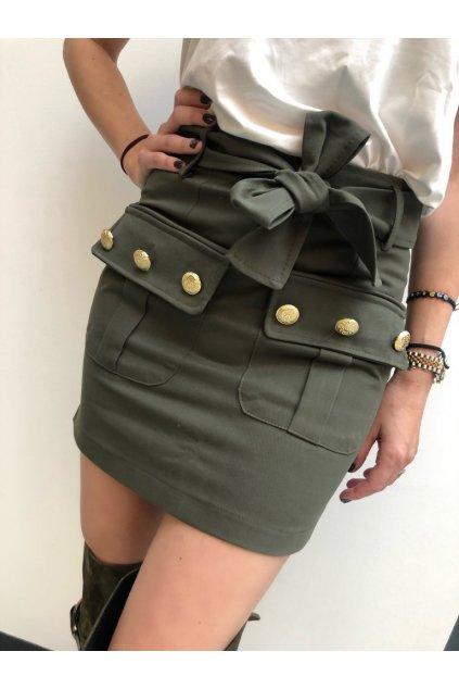 ODI ET AMO sukně s kapsami - khaki (Velikost Velikost S)
