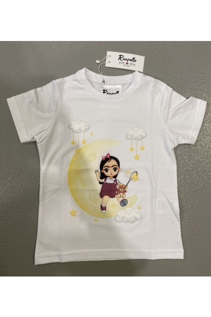 Tričko baby ZOELUNA, RANPOLLO - bílé (Velikost Velikost 12)