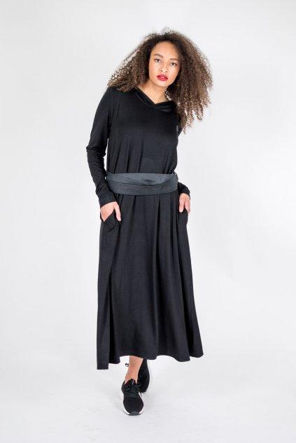letní dlouhé černé šaty