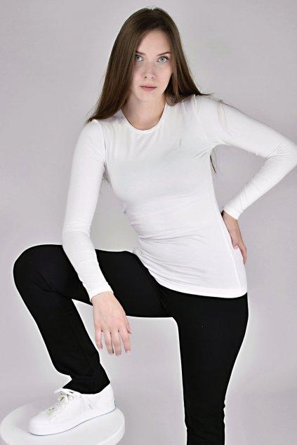 tričko s bílým rukávem