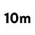 10 meters