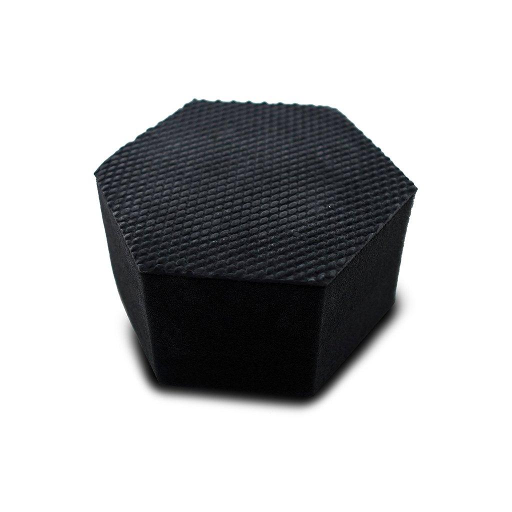 černá gumová houba, šestihran