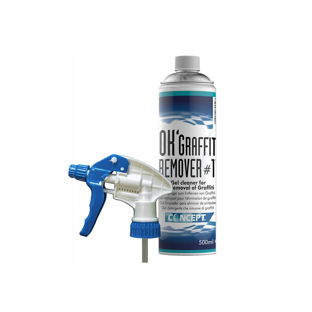 OK Graffiti remover with trigger spray