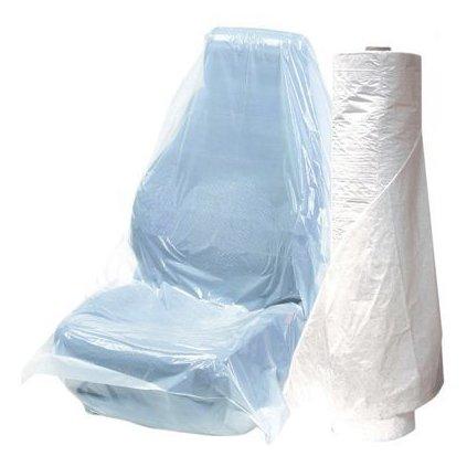 Ochranný potah na sedadla aut PE bílé 100ks