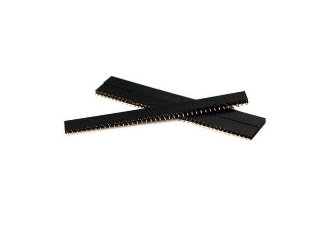 DuPont 40Pin 2,54 mm pinový pás rovný samica