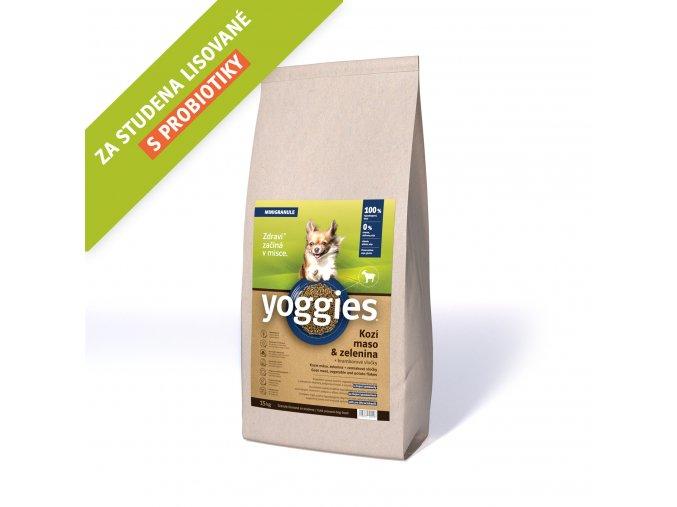 Yoggies 15 kg MINI Kozí granule lisované za studena s probiotiky