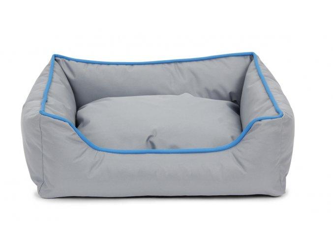 Odolný pelíšek pro psy JUKO obdelník 47x37x17cm - antracit