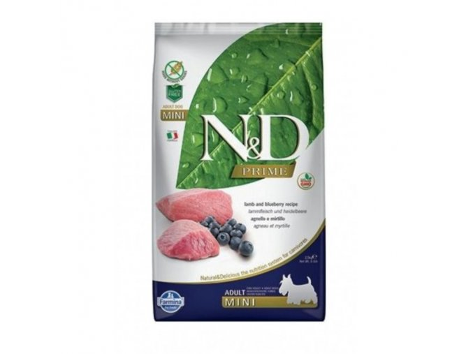 N&D GF DOG Adult Mini Lamb & Blueberry