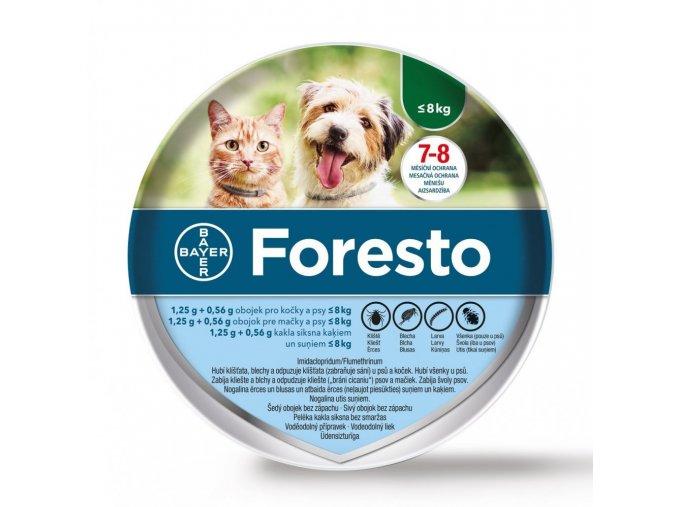 Foresto 38 obojek pro kočky a malé psy + DÁREK Světýlko na obojek