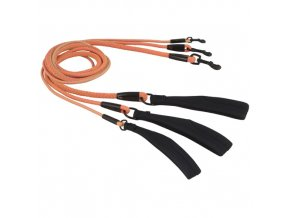 dazzle leash orange