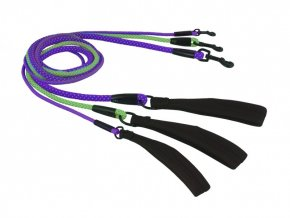 dazzle rope leash neongreen neonpurple 6mm 8mm 11mm