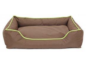 Odolný pelíšek pro psy JUKO obdelník 47x37x17cm - hnědý