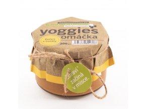Yoggies Omacka pro psy s kurecim masem bataty bylinky 200ml