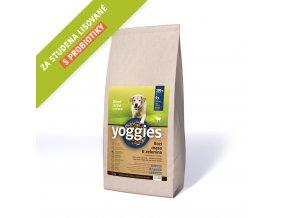 Yoggies 15 kg Kozí maso granule lisované za studena s probiotiky
