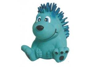 latexova hracka s piskadlem modry jezek 75cm