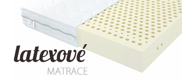 Antialergické matrace vyrobené z prírodného latexu