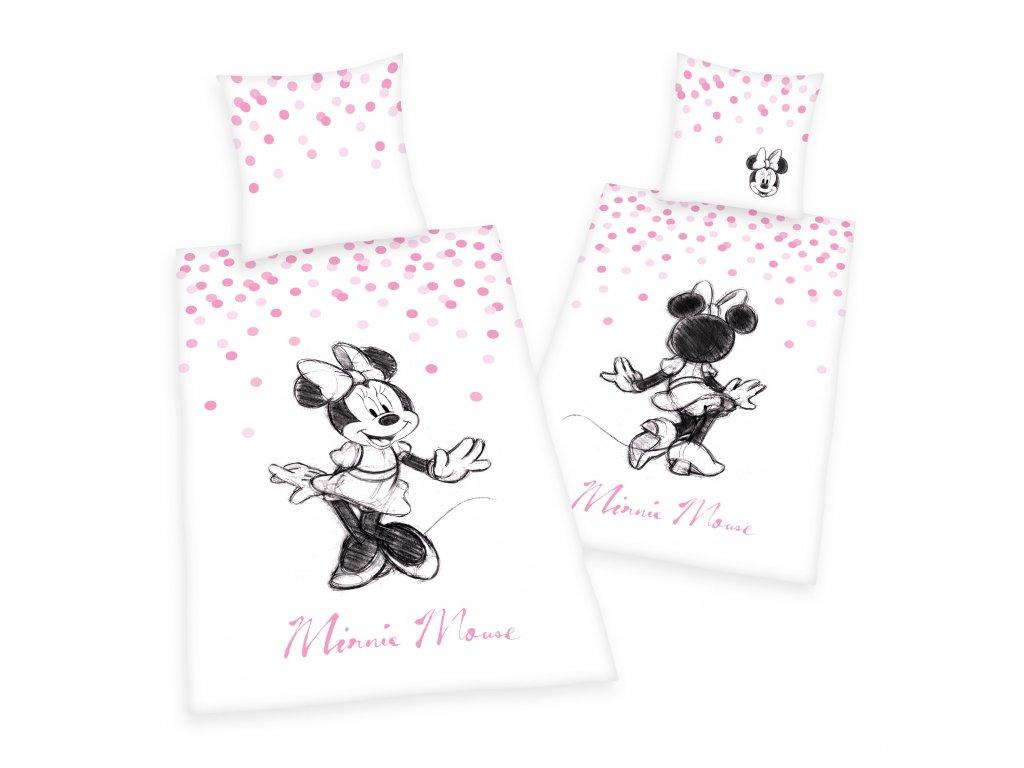 Detské bavlnené obliečky 140x200+70x90 - Minnie Mouse