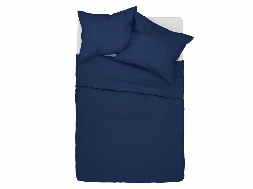 Bavlnené obliečky Klarisa - tmavomodré