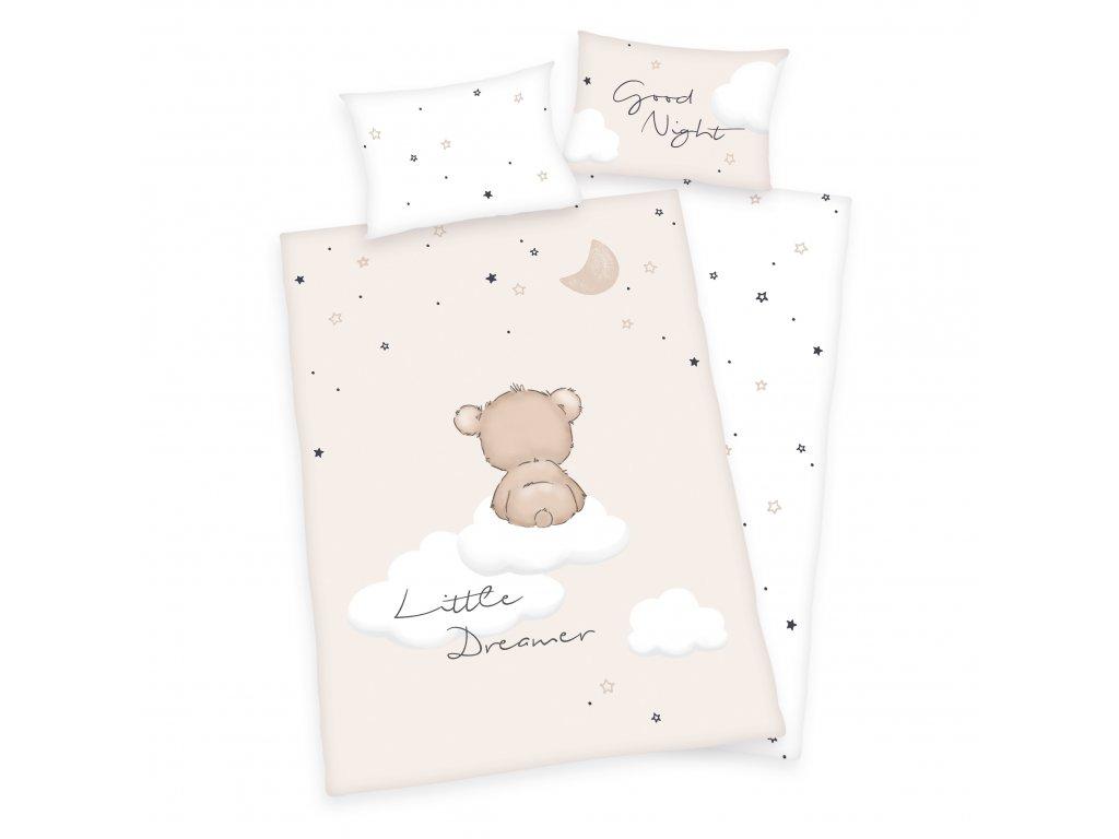 Detské bavlnené obliečky 100x135+40x60 - Little Dreamer
