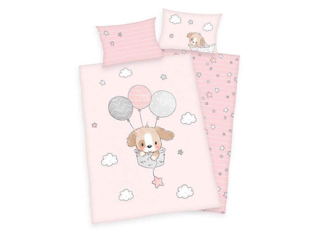 Detské bavlnené obliečky 100x135+40x60 - Sweet Puppy
