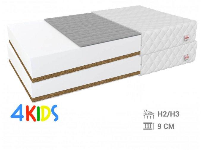 Obojstranné Bambino Console matrace pohánka/kokos 90x200 (2 ks) - 1+1