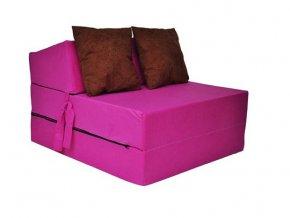Skladací matrac ružový