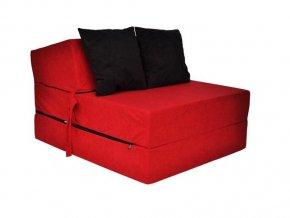 Skladací matrac červený