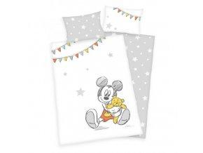 Detské bavlnené obliečky 100x135+40x60 - Mickey Mouse