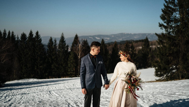 Naše zimní svatba na horách