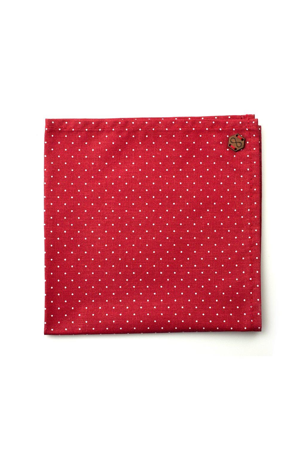 Pánský červený kapesníček Polka dot | JAA∞TY