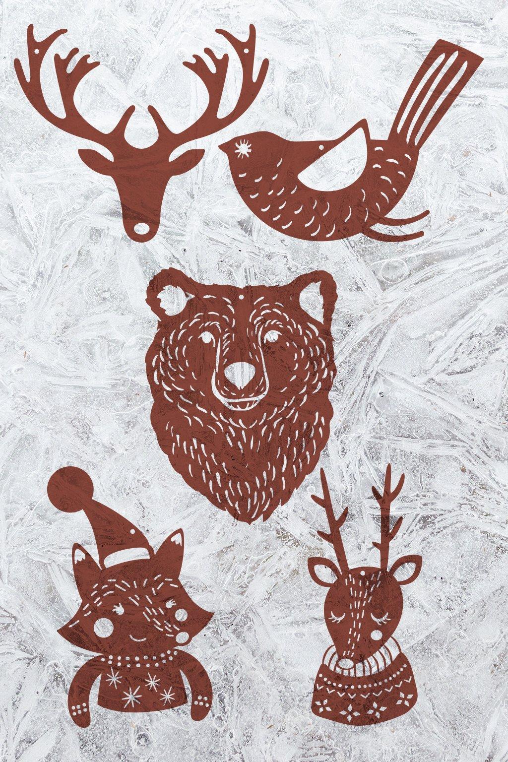 Dřevěná vánoční kolekce s lesními zvířátky Divá zvěř | JAA∞TY