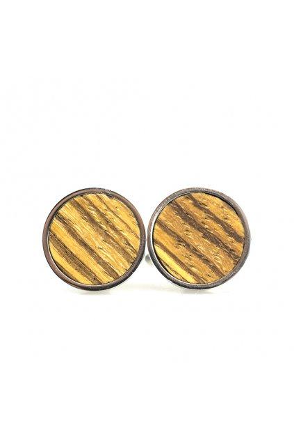 Pánské dřevěné manžetové knoflíčky Astronium | JAA∞TY