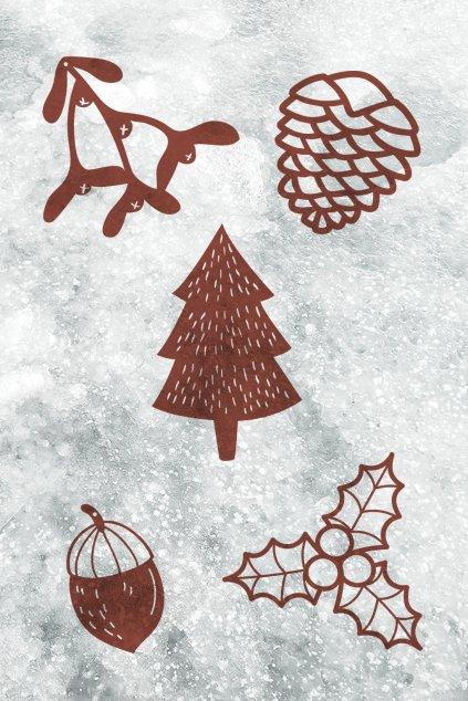 Dřevěná vánoční kolekce Živoucí | JAA∞TY