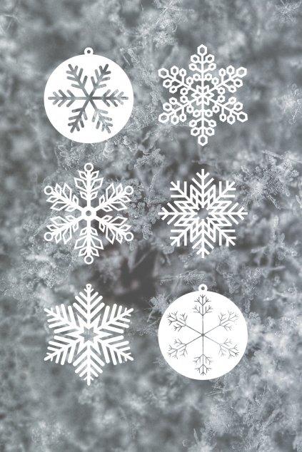 Dřevěná vánoční kolekce vločková inspirovaná sněhovými vločkami | JAA∞TY