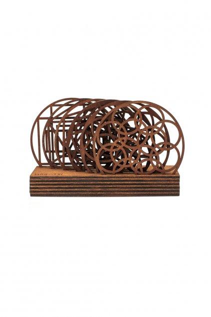 Sada dřevěných podložek na stůl Mandala | JAA∞TY