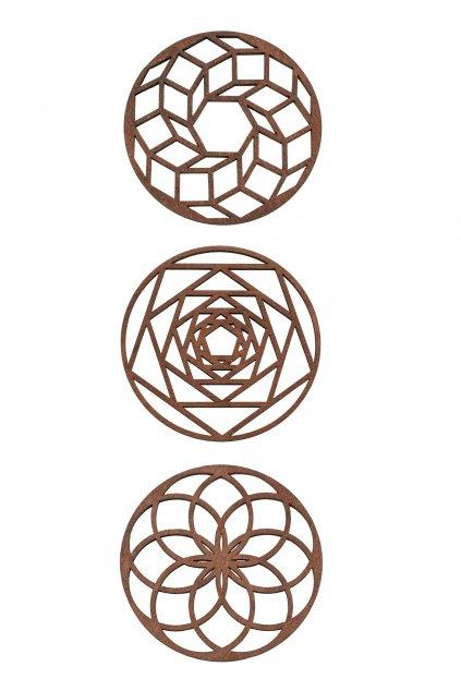 Dřevěná dekorace na stůl podtácek Mandala | JAA∞TY