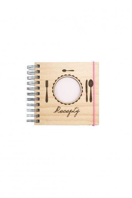 Dřevěný zápisník s rodinnými recepty WOODBOOK s recyklovaným papírem | JAA∞TY