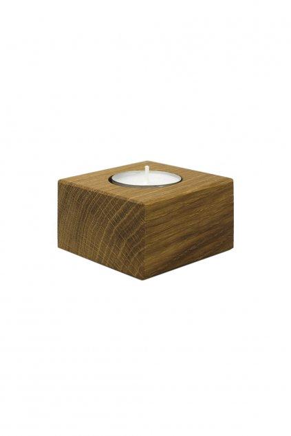 Dřevěný minimalistický svícen z masivního dřeva CUBE | JAA∞TY