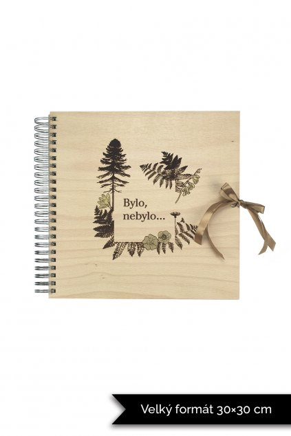 Dřevěné fotoalbum les Bylo nebylo