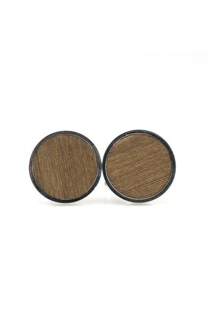 Pánské dřevěné manžetové knoflíčky Juglans nigra | JAA∞TY